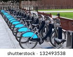 London With Bicycles Docks...