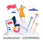 business leadership   colorful... | Shutterstock .eps vector #1324950002