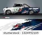 car wrap design. grunge tribal... | Shutterstock .eps vector #1324952105