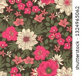 seamless vector floral pattern. ... | Shutterstock .eps vector #1324965062