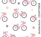 Vector Pink Bicycle Pattern....