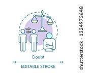 doubt concept icon. choice idea ... | Shutterstock .eps vector #1324973648