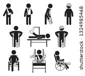 injured people icon set. vector.   Shutterstock .eps vector #1324985468
