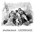 three drunkards talking to each ...   Shutterstock .eps vector #1325001632