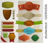 leather labels and ribbons... | Shutterstock .eps vector #132501026