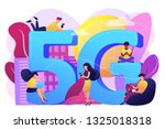 tiny business people with... | Shutterstock .eps vector #1325018318