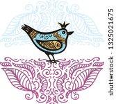 beautiful bird. vector...   Shutterstock .eps vector #1325021675