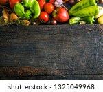 vegetables on wood. organic...   Shutterstock . vector #1325049968