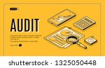 financial audit online service... | Shutterstock .eps vector #1325050448