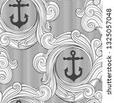 waves background with anchors.... | Shutterstock .eps vector #1325057048