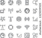 thin line icon set   antenna... | Shutterstock .eps vector #1325059535