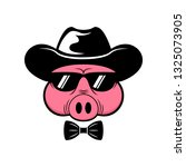 pig big boss icon   black... | Shutterstock .eps vector #1325073905