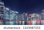 view of marina bay at dusk in... | Shutterstock . vector #1325087252