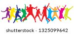 jumping people  family in... | Shutterstock .eps vector #1325099642