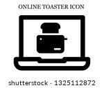 online toaster icon. editable... | Shutterstock .eps vector #1325112872