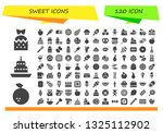 sweet icon set. 120 filled... | Shutterstock .eps vector #1325112902