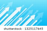financial arrow graphs on a... | Shutterstock .eps vector #1325117645