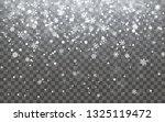 christmas snow. falling... | Shutterstock . vector #1325119472