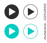 set of play buttons icon. black ... | Shutterstock .eps vector #1325120432