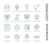 set of 16 thin linear icons... | Shutterstock .eps vector #1325130902