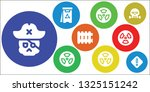 threat icon set. 9 filled...   Shutterstock .eps vector #1325151242