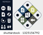 refresh icon set. 13 filled... | Shutterstock .eps vector #1325156792