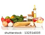 lasagna ingredients isolated on ... | Shutterstock . vector #132516035