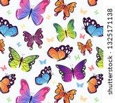 beautiful butterflies pattern.... | Shutterstock .eps vector #1325171138