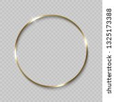 gold circle frame with shiny... | Shutterstock .eps vector #1325173388