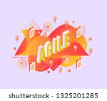 agile isometric gradient text... | Shutterstock .eps vector #1325201285