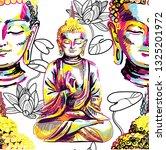 buddha seamless pattern....   Shutterstock .eps vector #1325201972