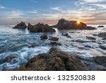 Rocky Coastal Sunset Seascape...