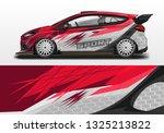racing car decal wrap vector... | Shutterstock .eps vector #1325213822