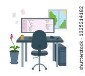 programmer workplace for the... | Shutterstock .eps vector #1325214182