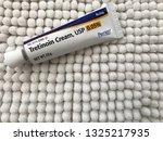 Small photo of New Orleans, LA - February 27, 2019: prescription Tretinoin Cream 0.05% for acne and anti aging