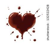 chocolate heart   Shutterstock .eps vector #132522428