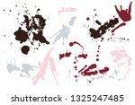 hand drawn set of colorful ink... | Shutterstock .eps vector #1325247485