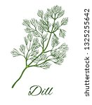 dill hand drawn color sketch.... | Shutterstock .eps vector #1325255642