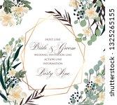 floral wedding invitation peony ... | Shutterstock .eps vector #1325265155