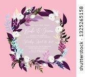 floral wedding invitation peony ... | Shutterstock .eps vector #1325265158
