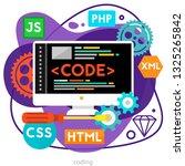 coding concept. trendy bright... | Shutterstock .eps vector #1325265842