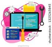 programming concept. trendy... | Shutterstock .eps vector #1325265845