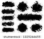 brush strokes. vector... | Shutterstock .eps vector #1325266655