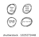 hand drawn circle line sketch.... | Shutterstock .eps vector #1325272448