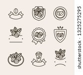 coffee beans labels and icons... | Shutterstock .eps vector #1325275295