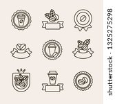 coffee beans labels and icons... | Shutterstock .eps vector #1325275298