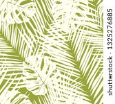 cute green tropical leaves...   Shutterstock .eps vector #1325276885