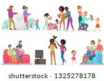 cartoon scenes of family life...   Shutterstock .eps vector #1325278178