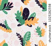 floral seamless pattern in hand ... | Shutterstock .eps vector #1325282558