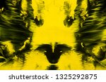 yellow and black abstract... | Shutterstock . vector #1325292875